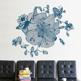 Blue Blossoms Wall Decal Wall Decal