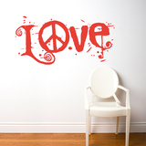 Peace & Love Wall Decal Wall Decal