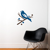 Grosbeak (blue) Wall Decal Wall Decal