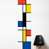 Pop Mondrian  Wall Decal Wall Decal
