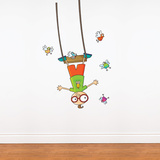Swing Boy Wall Decal Wall Decal