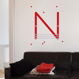 N Letter Wall Decal Wall Decal