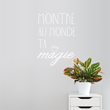 Montre ta magie FR Wall Decal Wall Decal