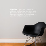 Amour (french) Wall Decal Wall Decal