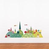 Journey in the Countryside Wall Decal Wall Decal