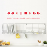Fast forward Wall Decal Wall Decal