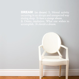 Dream (english) Wall Decal Wall Decal