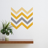 Yellow Chevron Wall Decal Wall Decal