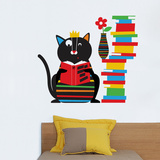 Smarty Cat Wall Decal Wall Decal