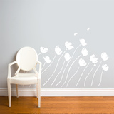 Petals in the Wind Wall Decal Wall Decal