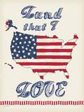Flag Land I love Prints by Jo Moulton