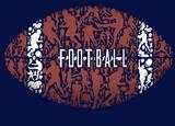 Football Print by Jim Baldwin