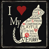 I Love My Cat Poster by Jo Moulton