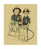 The Firefighters Sons Photographic Print by Diane Strain