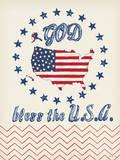 God Bless the USA Prints by Jo Moulton
