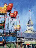Balboa Ferris Wheel Posters by Leslie Saeta