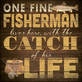 Fine Fisherman Poster by Stephanie Marrott