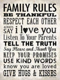 Family Rules Cream Poster von Stephanie Marrott