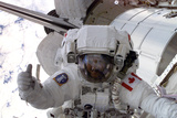 NASA Astronaut Spacewalk Space Photo