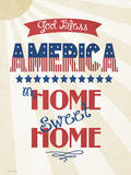 God Bless America Posters by Jo Moulton