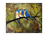 Print Art Bluebird Trio Photographic Print by Blenda Tyvoll