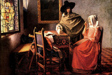 Johannes Vermeer Glass of Wine Art