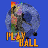 Play Ball - Soccer (Blue) Posters by Jim Baldwin