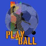 Play Ball - Soccer (Blue) Posters by Jim Baldwin
