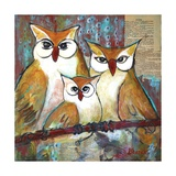 Owl Family Portrait Photographic Print by Blenda Tyvoll