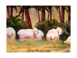 Sheep Landscape Art Print Photographic Print by Blenda Tyvoll