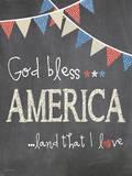 God Bless America Prints by Jo Moulton