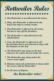 Rottweiler House Rules Humor Print