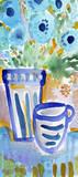 Tea and Flowers I Kunst von Linda Woods