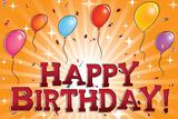Happy Birthday (Balloons) Art Art