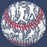 Baseball Print by Jim Baldwin
