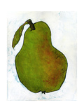Green Pear on White Background Photographic Print by Blenda Tyvoll