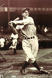 Lou Gehrig Swing Sports Poster Photo