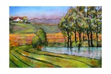 Landscape Art Scenic Fields Painting Photographic Print by Blenda Tyvoll