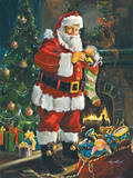 Sneeking Santa Art by Susan Comish