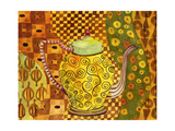 Klimt Style Teapot Art Print Photographic Print by Blenda Tyvoll