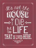 Not the House (Winterberry) Poster by Jo Moulton