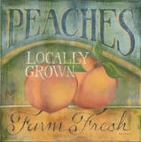Peaches Posters by Kim Lewis