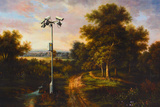 Banksy Security Camera in Country Poster Photo