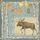 Moose on Blue Posters by Anita Phillips