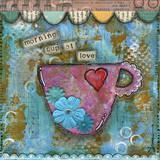 Morning Cup Of Love Prints by Denise Braun