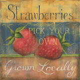 Strawberries Print by Kim Lewis