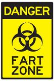 Danger Fart Zone Humor Affischer