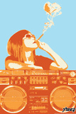 Steez Boom Box Joint - Orange Art Poster Posters
