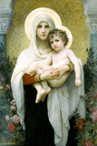 William-Adolphe Bouguereau The Madonna of the Roses Poster Posters