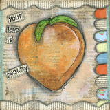 Your Love Is Peachy Print by Denise Braun